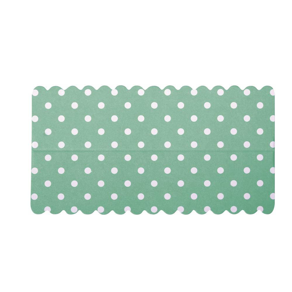 Lasche zum Verschließen v. Papiertütchen, blau mit Punkten, SB-Btl 10Stück, 13x7cm