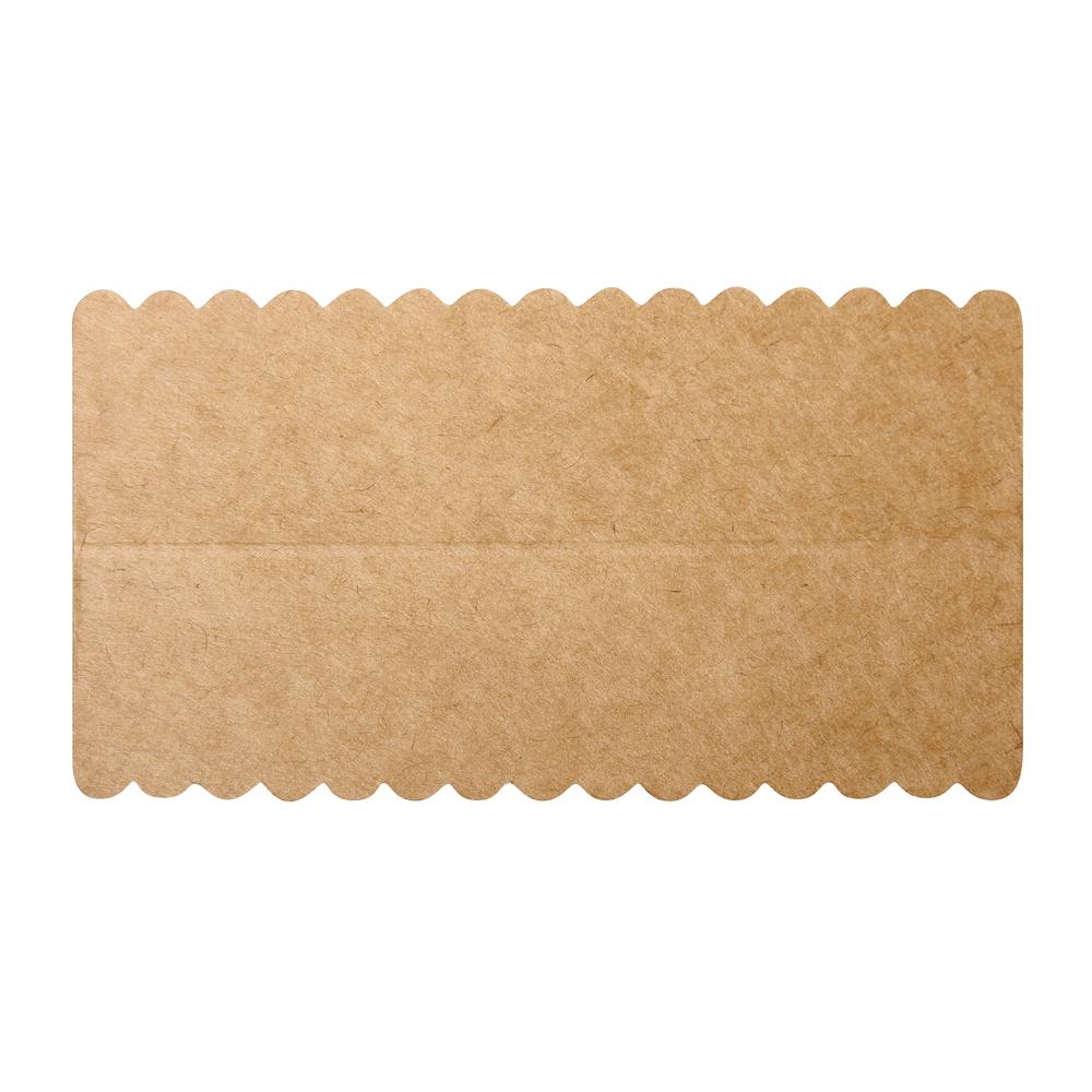 Lasche zum Verschließen v. Papiertütchen, Kraftpapier, SB-Btl 10Stück, 13x7cm
