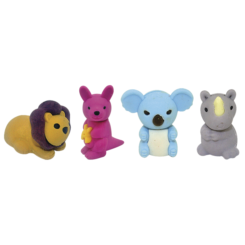 Ratze fun-Set Wild animals, 4 verschiedene Motive, PVC-Box 4Stück
