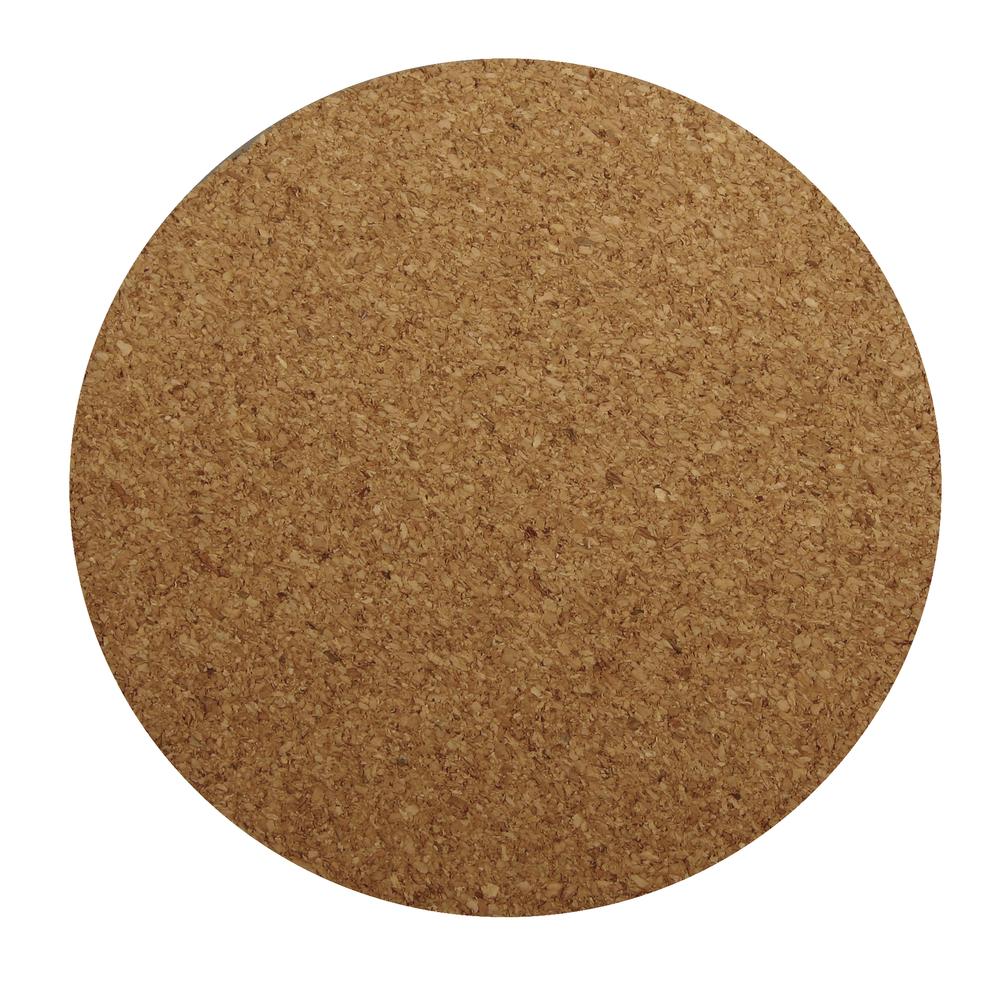Kork-Untersetzer rund, 10cm ø, 0,3cm, SB-Btl 4Stück