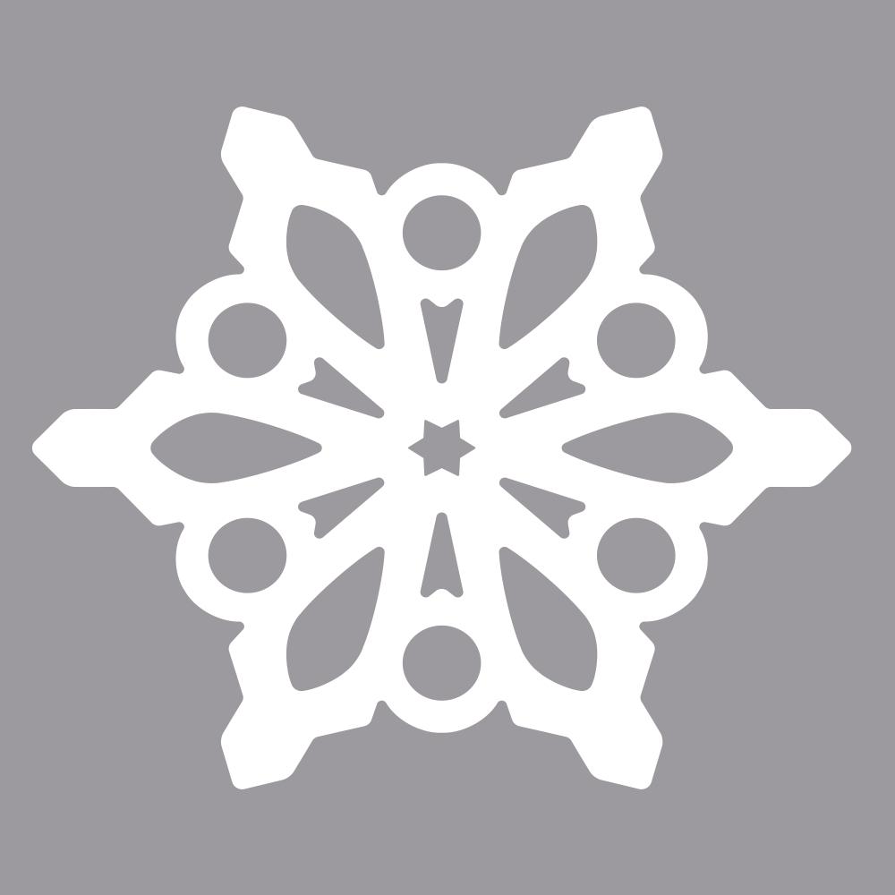 Silhouetten-Stanzer Schneeflocke, 3,7x4,2cm, SB-Blister 1Stück