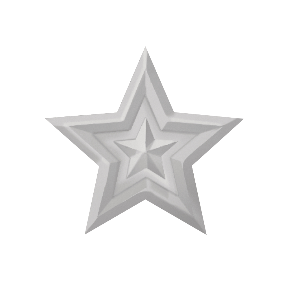 Embossing-Stanzer: Stern, 3cm ø, SB-Blister 1Stück