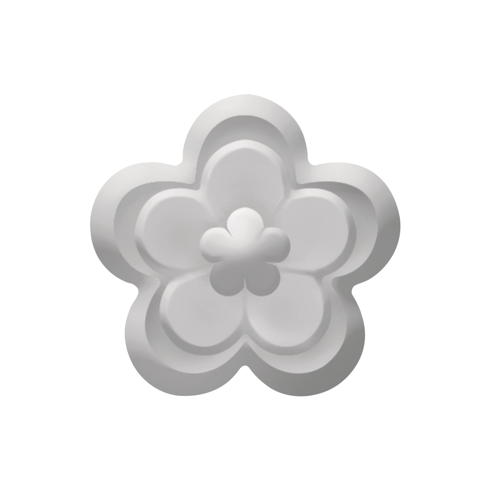 Embossing-Stanzer: Blüte, 3,1cm ø, SB-Blister 1Stück