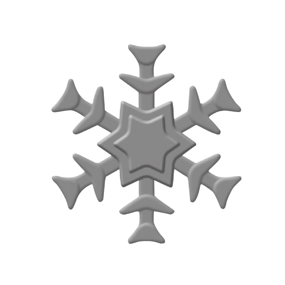 Embossing-Stanzer: Schneeflocke, 3,2cm ø, SB-Blister 1Stück