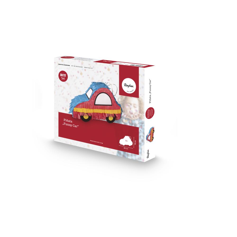 Bastelpackung: Piñata funny Car, 26x8x18cm, Box 1Set