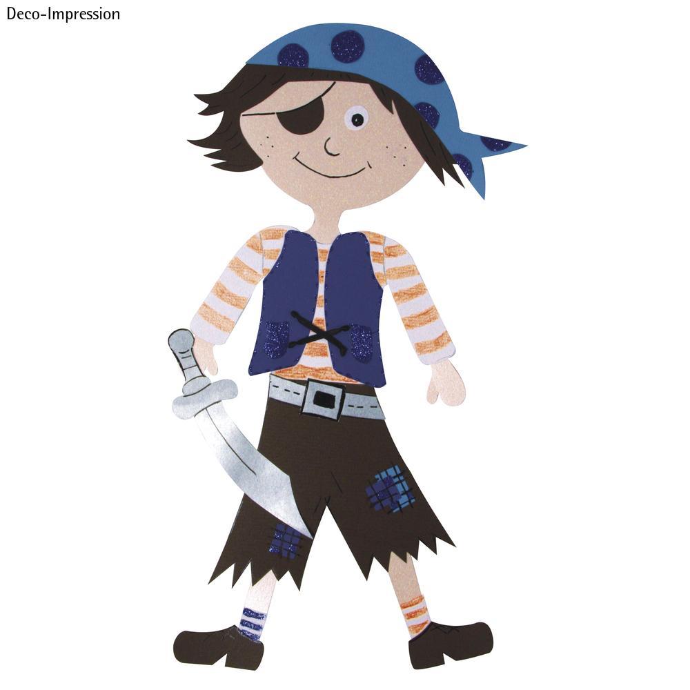 Bastelset Schultüten-Verzierung, Motiv Pirat