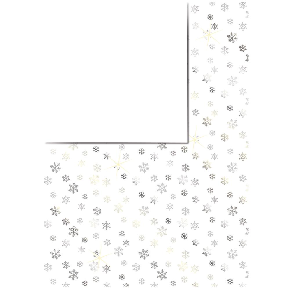 Motivkarton Schneeflocken, 213x310mm, mit Silberfolie, 190 g/m2