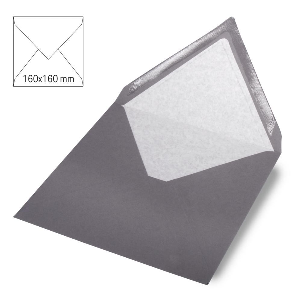 Kuvert quadratisch, uni, FSC Mix Credit, 160x160mm, 90g/m2, Beutel 5Stück