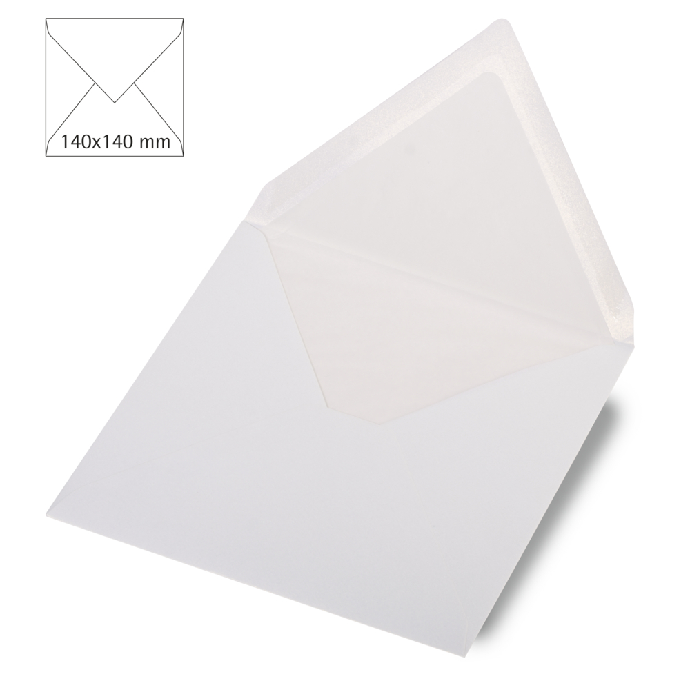 Kuvert quadratisch,met., FSC Mix Credit, 140x140mm, 120g/m2, Beutel 5Stück