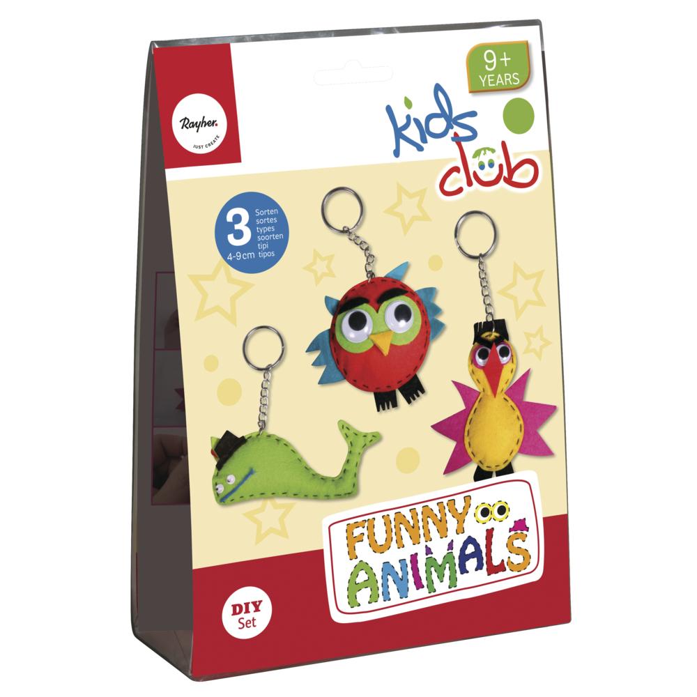 Bastelpackung: Funny Animals, 4-9 cm, 3 Sorten