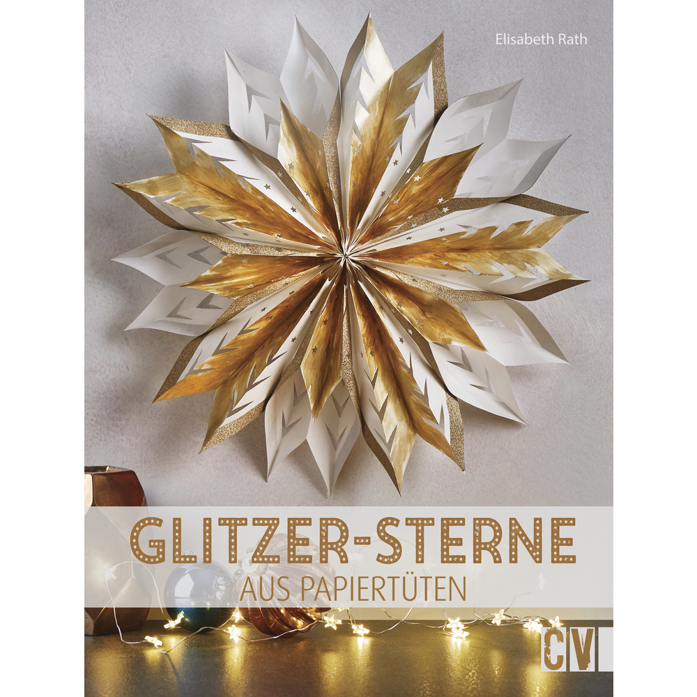 Buch: Glitzer-Sterne aus Papiertüten, nur in deutscher Sprache
