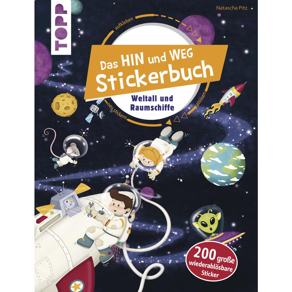 Stickerbuch Weltall und Raumschiffe, nur in deutscher Sprache