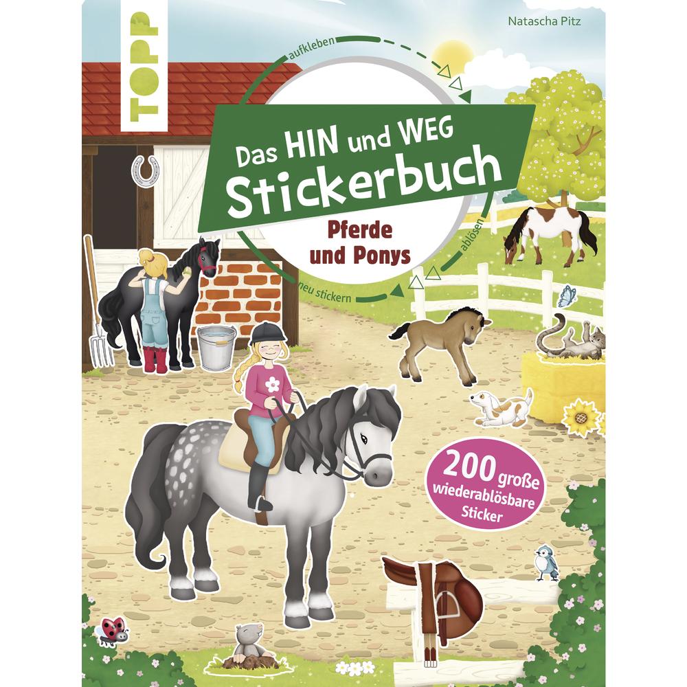 Stickerbuch Pferde und Ponys, nur in deutscher Sprache