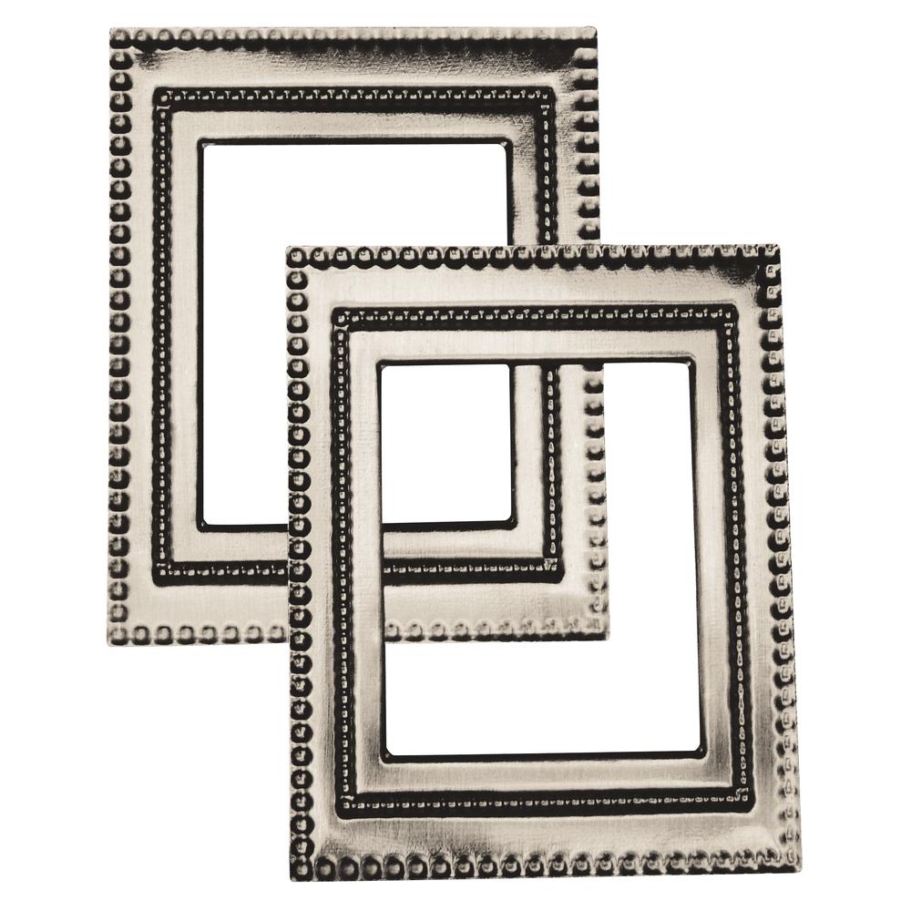 Metall-Rahmen Art-Deco, 7x5,5 cm, SB-Btl. 2 Stück
