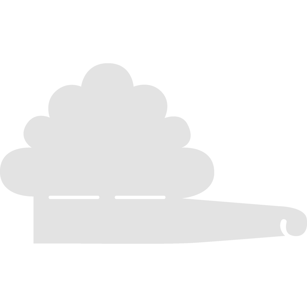 Schablone, Wolke, 19,8x11,6 cm, SB-Btl. 1 Stück