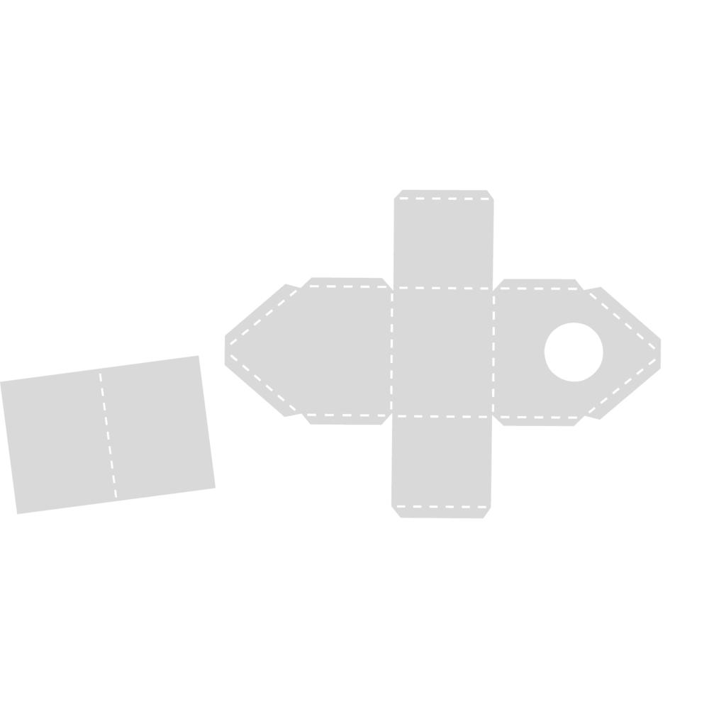 Schablone, Vogelhaus Tirol, 15,5x20,8 cm, SB-Btl. 1 Stück