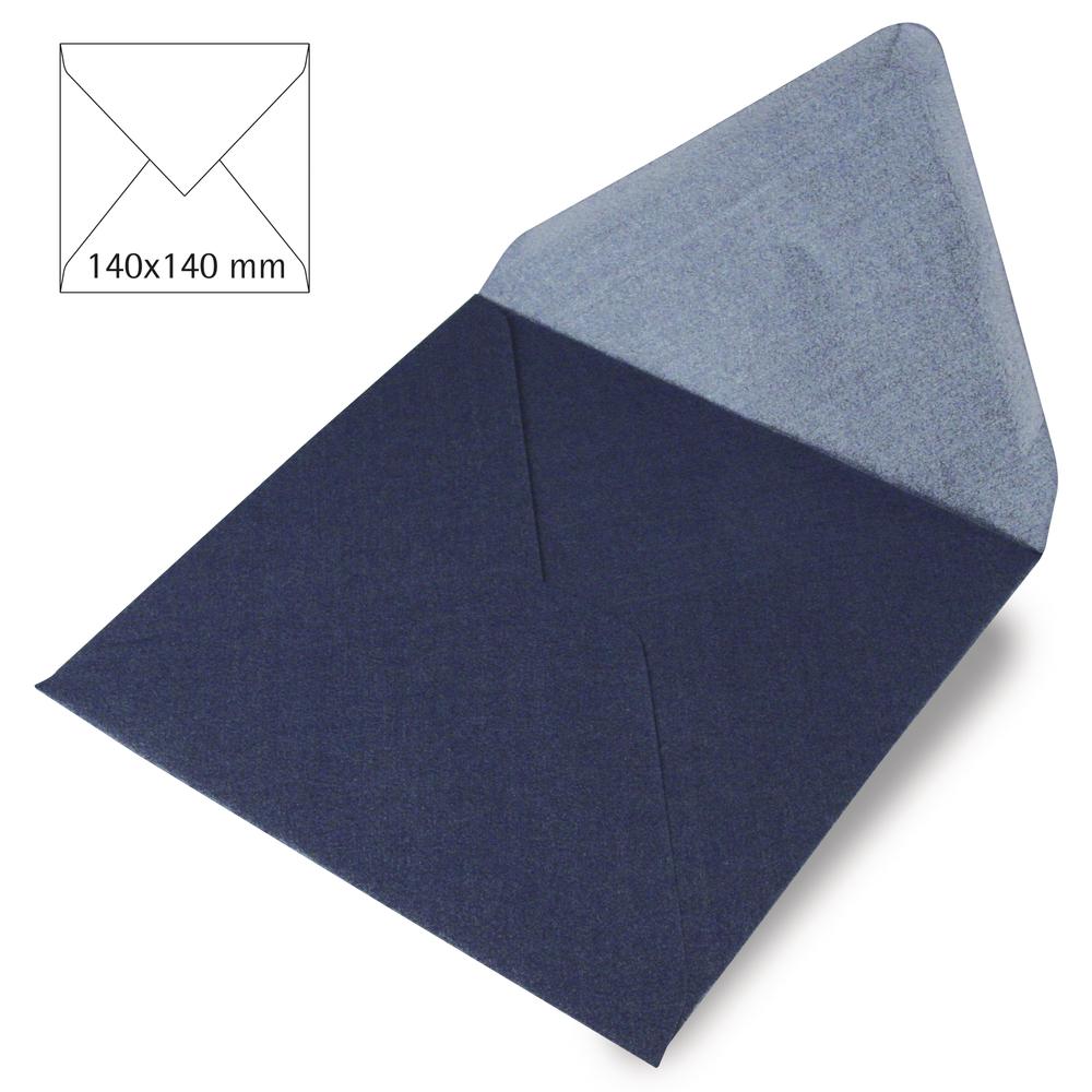 Kuvert quadratisch, FSC Mix Credit, 140x140mm, 120g/m2, Beutel 5Stück, royalblau