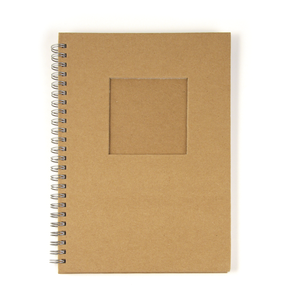 Notizbuch, mit Passepartoutstanzung,HF, Quadrat, DIN A6, 60 Blatt, 70 g/m2