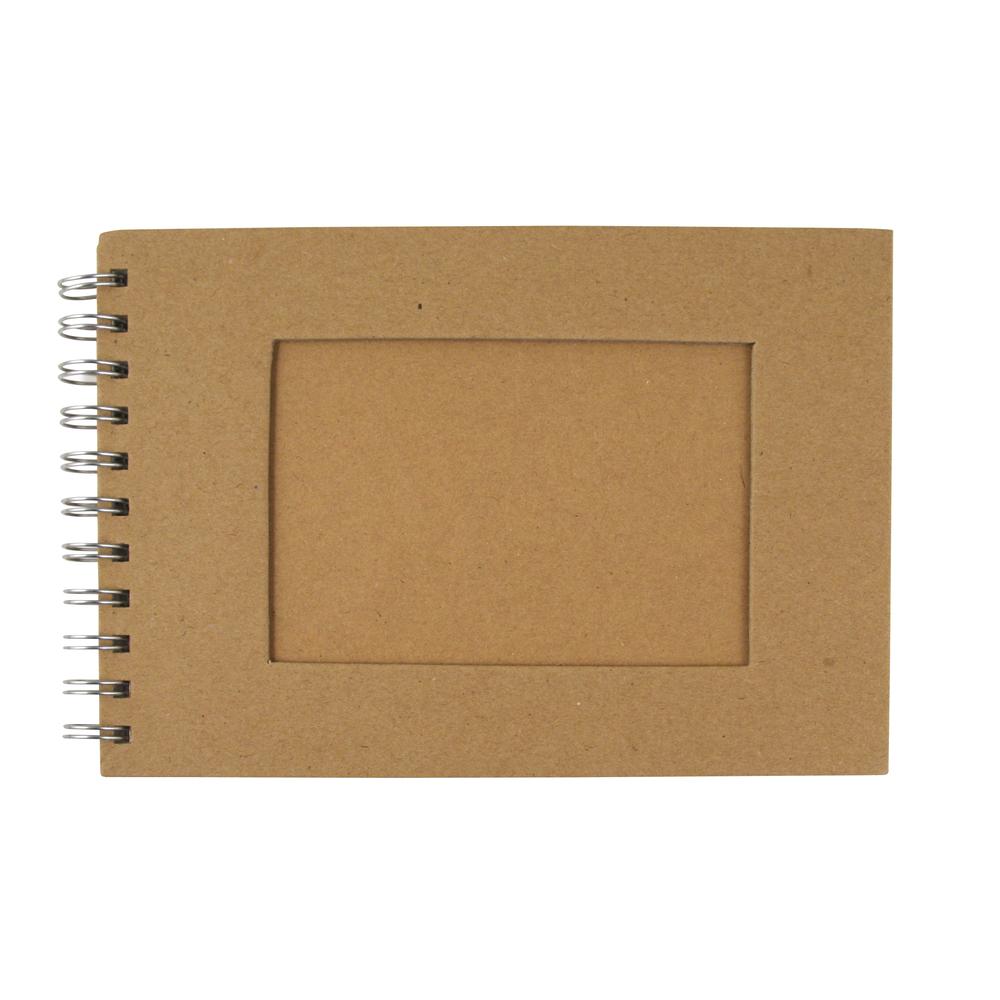 Album mit Passpartoutstanzung, QF, Rechteck, Din A6, 30 Bogen, 190 g/m2