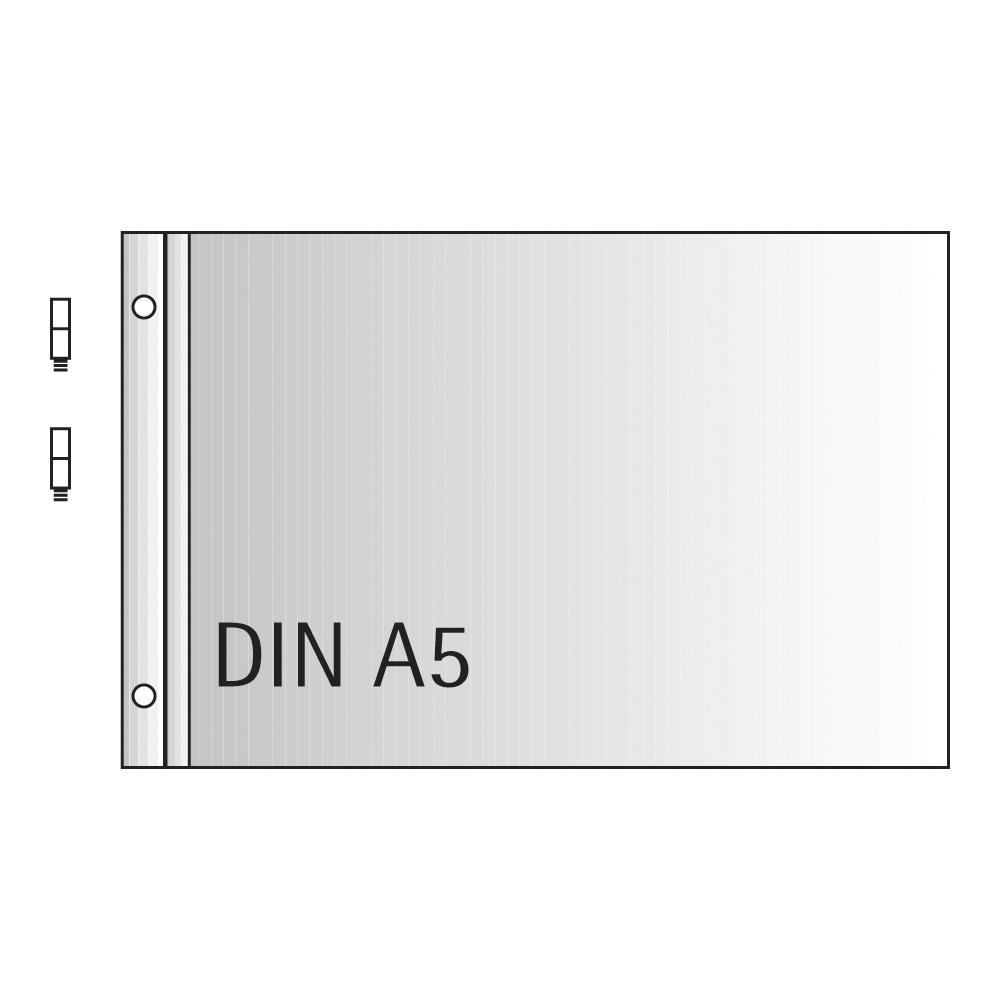 Erweiterungs-Set, Din A5 quer,Inhalt: 5 Schutzhüllen, 10 Blatt Papier 180g, weiss, 4 Verlängerungsschrauben