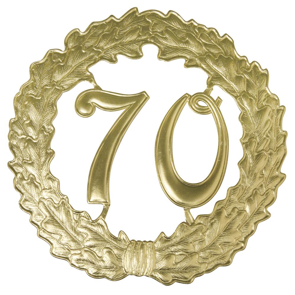 Zahlenkranz 70, 18cm ø, gold