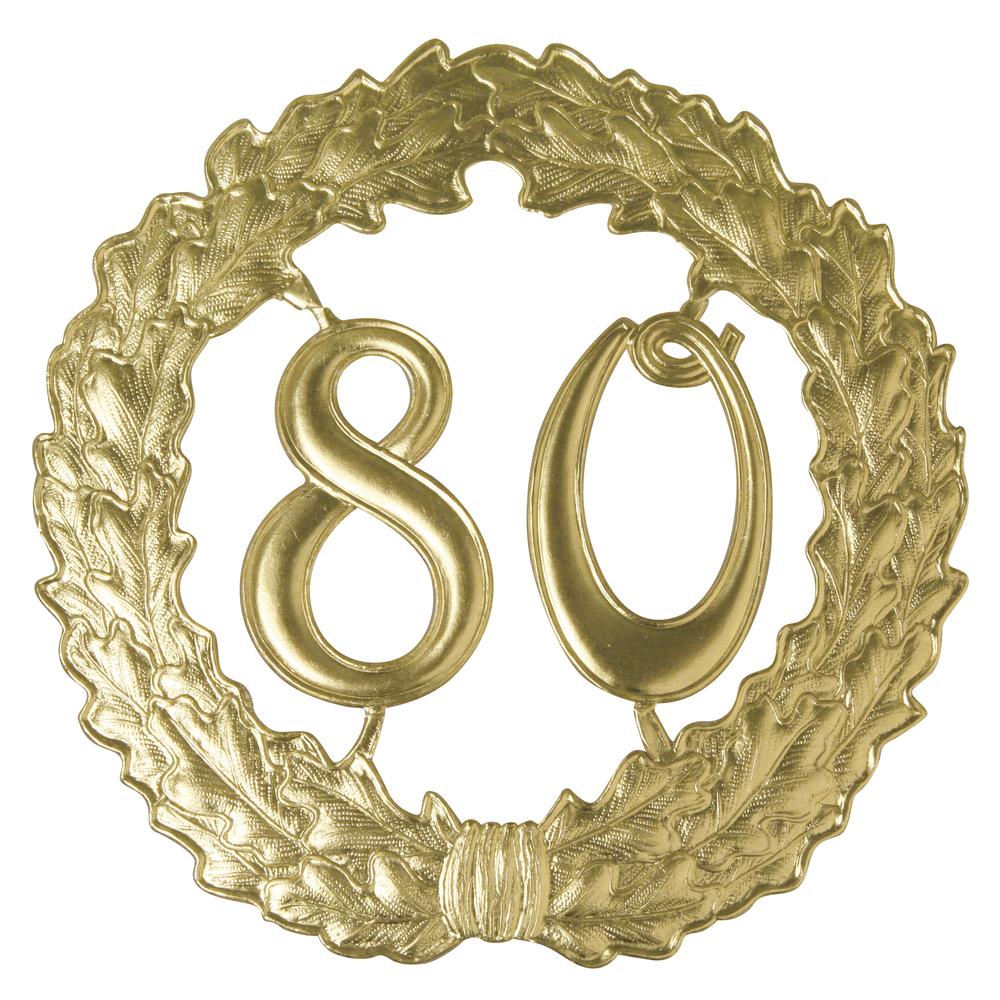 Zahlenkranz 80, 19cm ø, gold