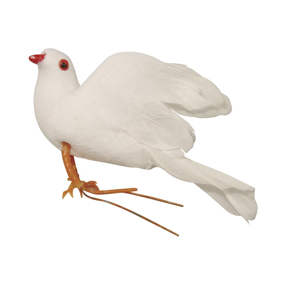 Federtaube, 10cm, weiß