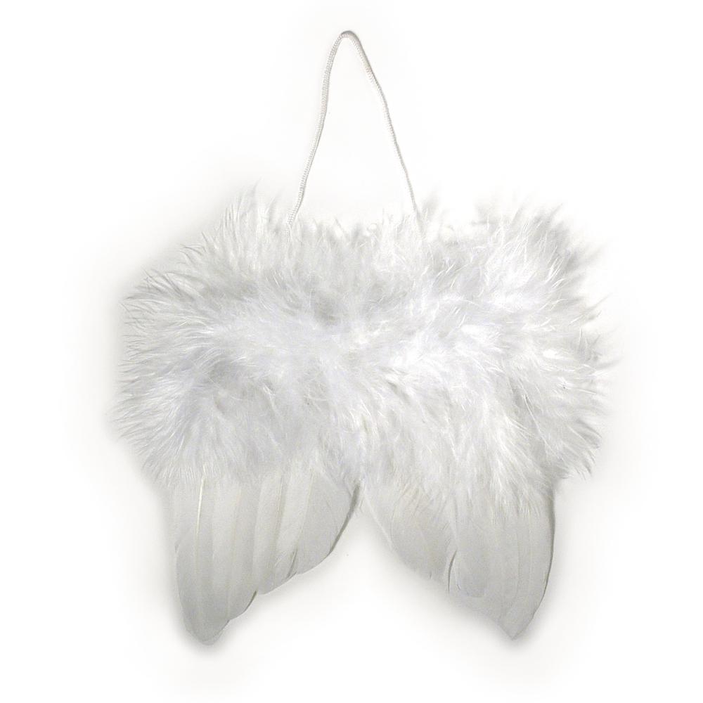 Engelflügel aus Federn, 10cm, SB-Btl 2Stück