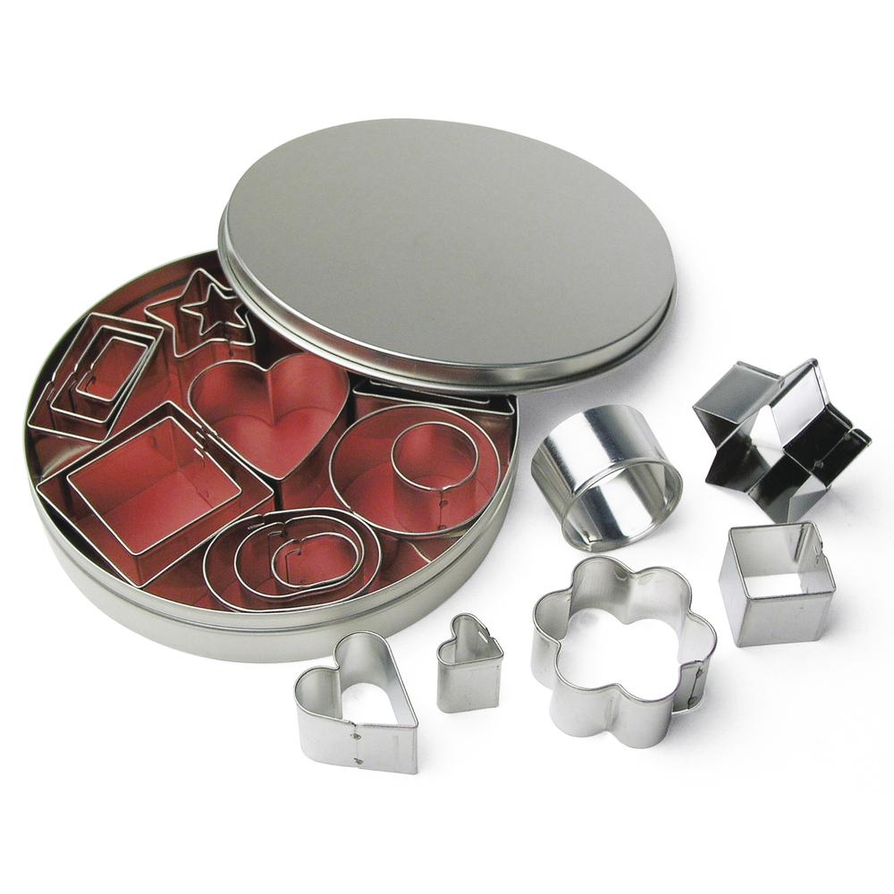 Metall-Ausstecherformen f. Deko, 2-4 cm, 8 Sorten, Set 24Stück