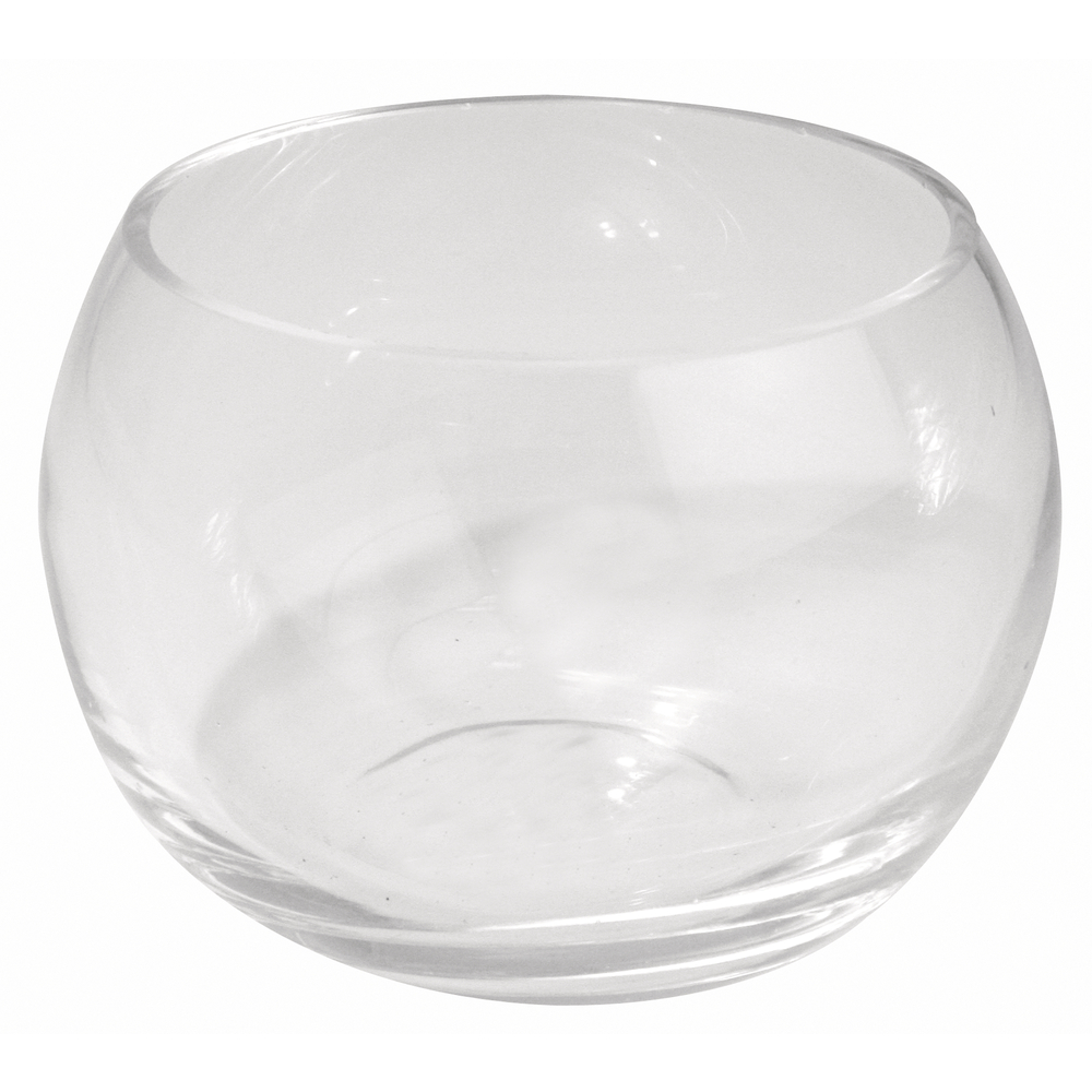 Glas-Gefäß rund, Höhe: 8cm, Öffnung: ø 8,5cm