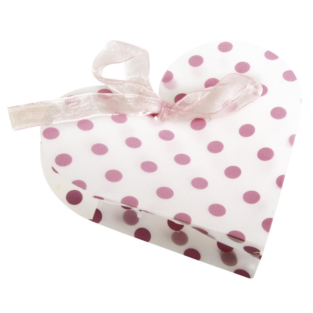 Geschenk-Box: Punkte, 10x9,5x2,5cm, SB-Btl 4Stück