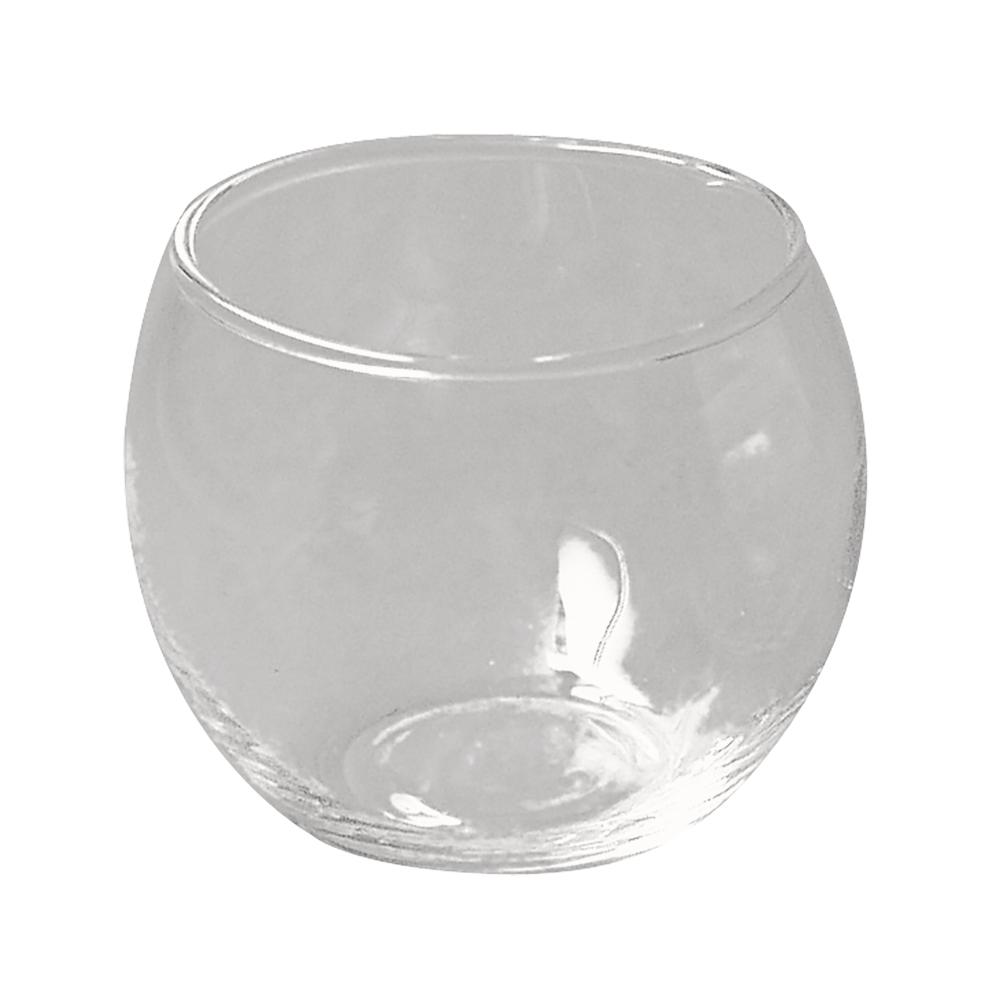 Glasgefäß, rund, 7,5 cm ø