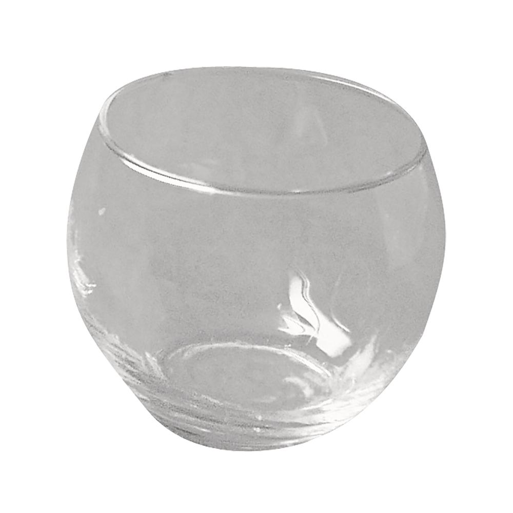 Glasgefäß, rund, 6,5 cm ø