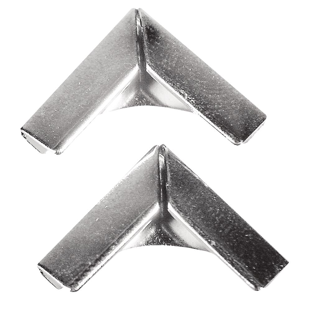 Metallecken für Bucheinbände, 14x14 mm, SB-Btl. 4 Stück