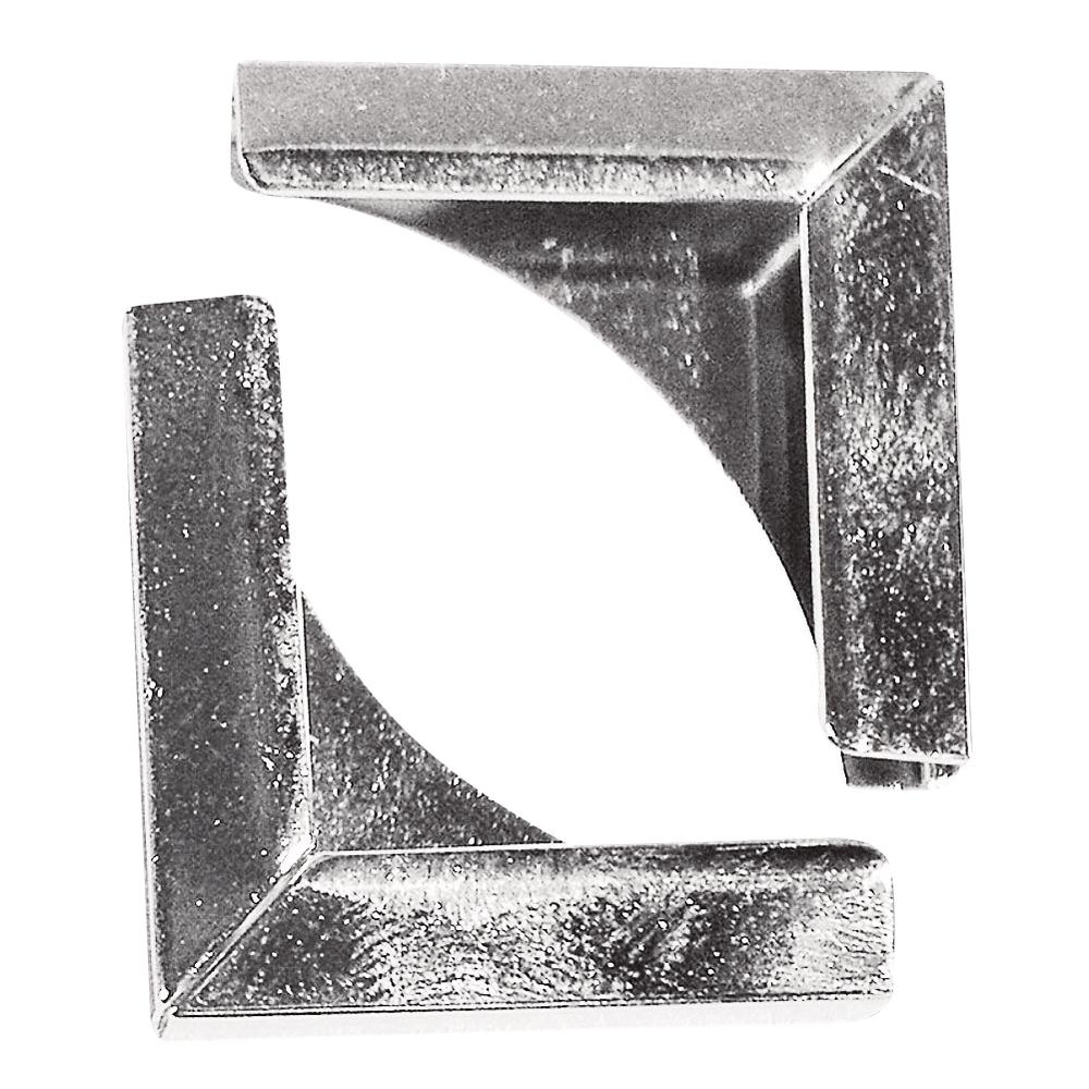 Metallecken für Bucheinbände, 21x21 mm, SB-Btl. 4 Stück