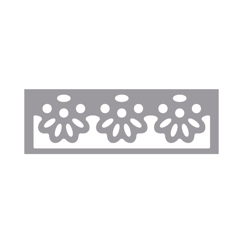 Bordüren-Stanzer - Blüte, 4,5x1,3cm, Geeignet f.Karton bis 200g/m²