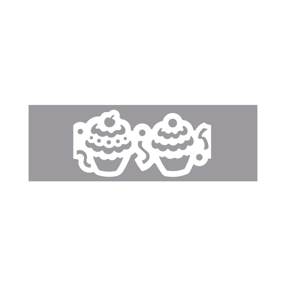 Bordüren-Stanzer - Muffinkette, 6,3x3cm, Geeignet f. Karton bis 220g/m²